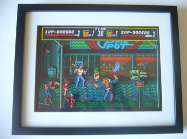 Streets of Rage   3D Art Shadow Box